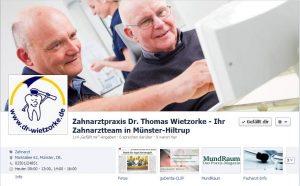 Facebookseite Zahnartztpraxis Dr. Thomas Wietzorke / Münster-Hiltrup