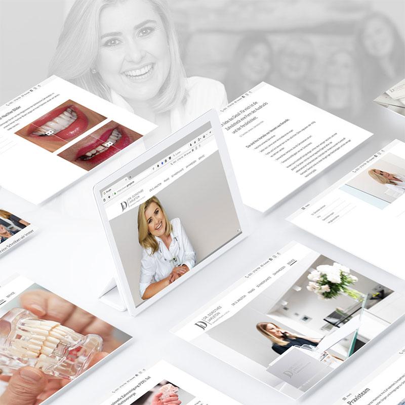 Internetseite der Zahnarztpraxis Dr. Dorothee Jarleton in Köln. Ein Projekt der parsmedia Praxismarketing GmbH.