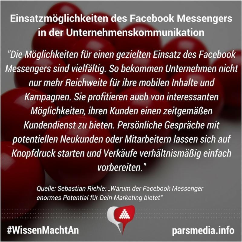 """""""Warum der Facebook Messenger enormes Potential für Dein Marketing bietet"""""""