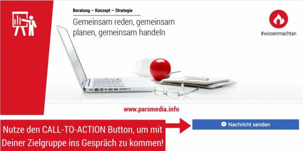 nutze den call to action button für facebook nachrichten