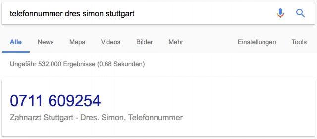 zahnarztpraxis-simon-telefonnummer aus google my business