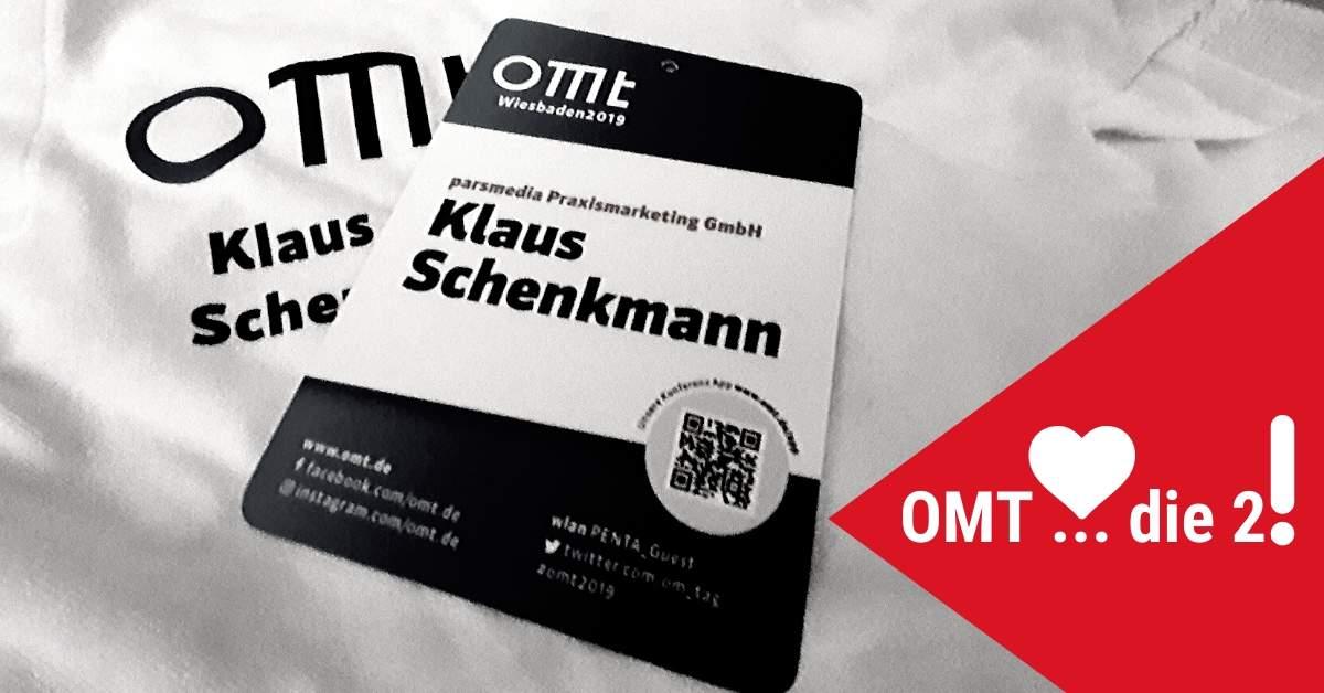 Parsmedia Geschätsführer Klaus Schenkmann auf dem OMT 2019. Themen rund um das Onlinemarketing in Wiesbaden.