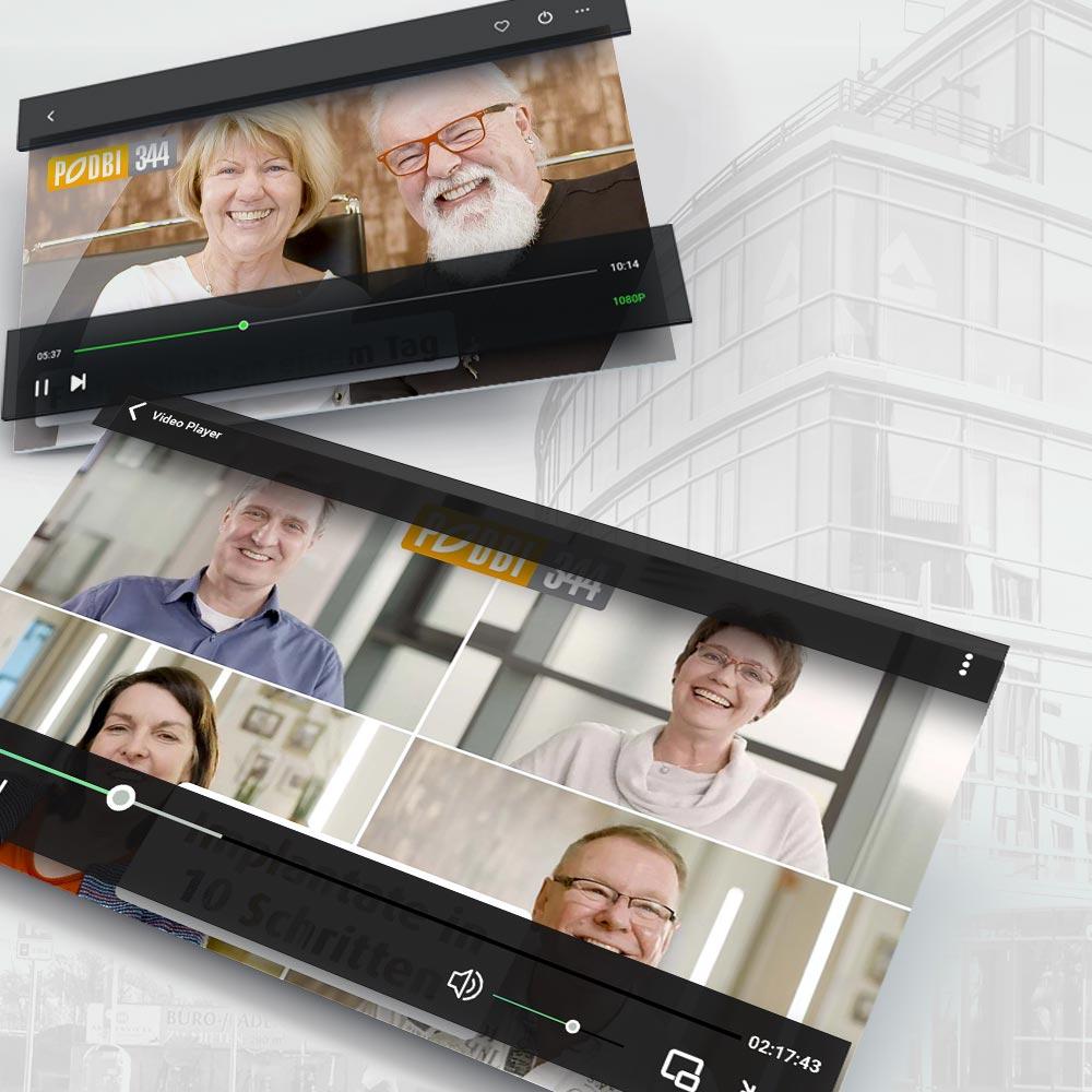 Patientenvideos für die Zahnarztpraxis PODBI344 in Hannover. Ein Projekt der parsmedia Praxismarketing GmbH.