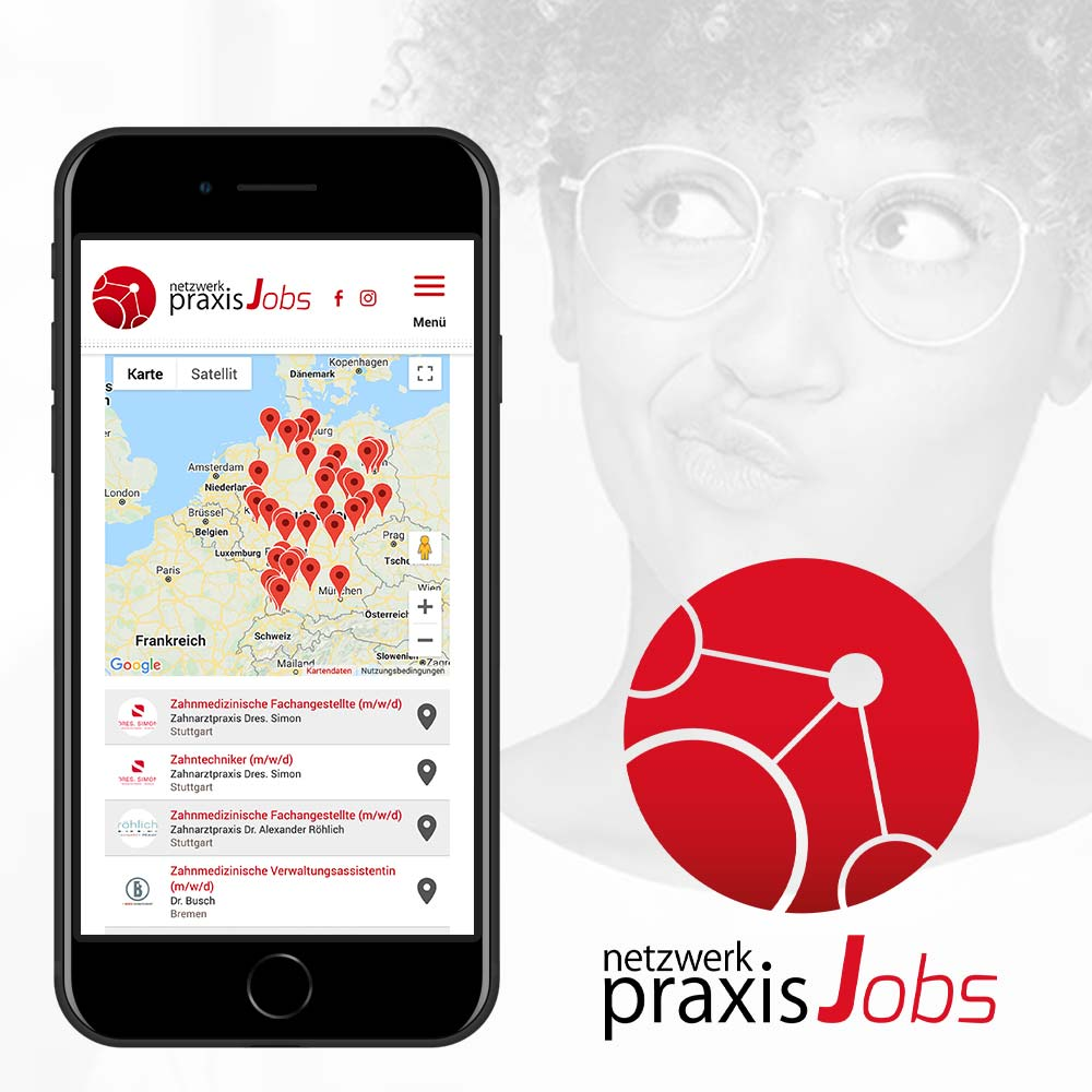 Netzwerk Praxisjobs - das kostenfreie parsmedia Jobportal