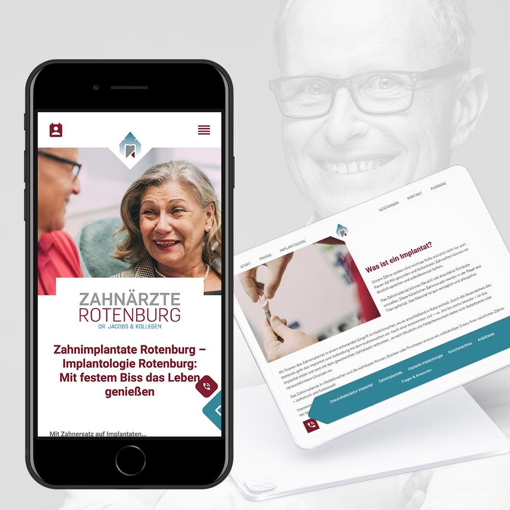 Markenrelaunch - Website und Logo - der Zahnarztpraxis Dr. Jacobs & Kollegen in Rotenburg an der Wümme